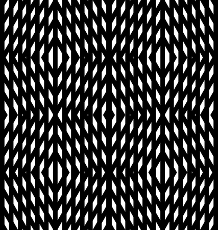illusions: Abstract geometric background. Optical illusions, white diamonds. Seamless texture