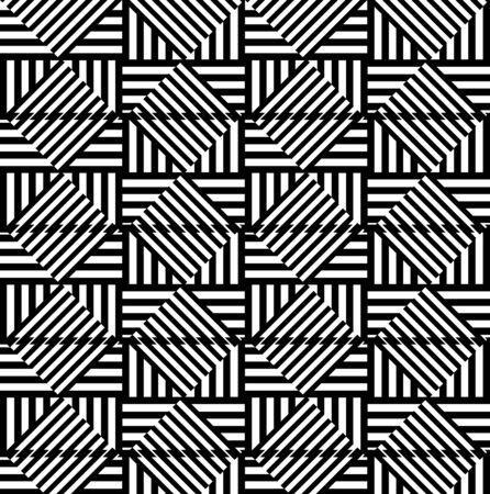 illusions: Abstract geometric background. Optical illusions, diamonds. Seamless texture Illustration