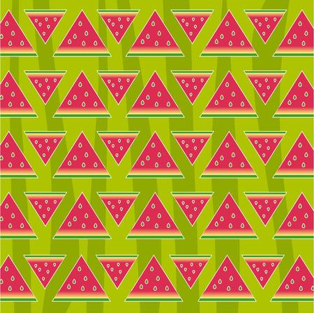 Watermeloen naadloos patroon, textuur. Abstract Stock Illustratie