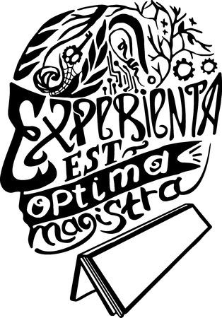 Ervaring is de beste leermeester. Latijns. Abstractie zinnen, aforismen, gezegden en uitdrukkingen