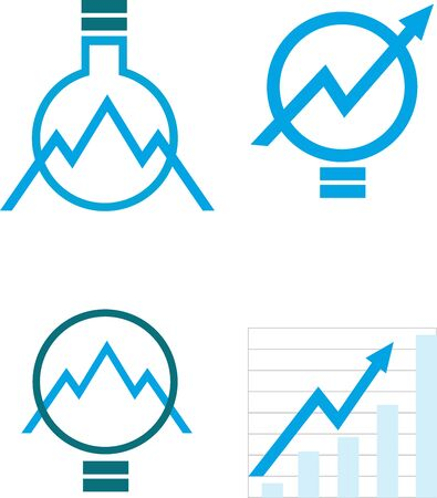The icons , symbolizing knowledge, the growth Illustration