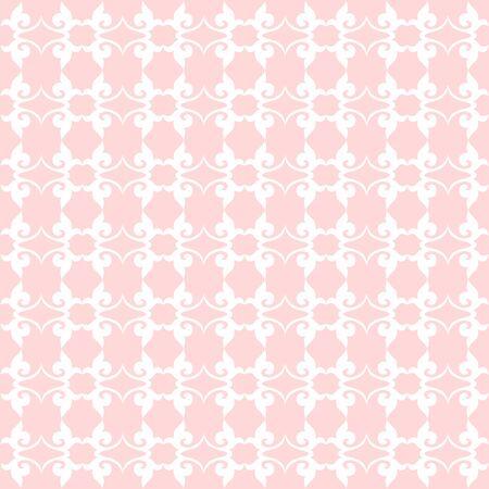 Bloemenpatroon. Achtergrond barok, damast. vector achtergrond. Roze en kwarts kleur Stock Illustratie