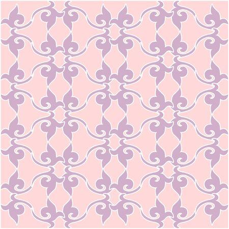 Bloemenpatroon. Behang barok, damast. vector achtergrond. Paars en roze, kwarts kleur