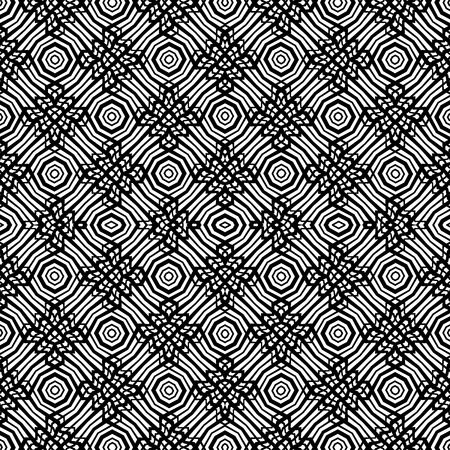 Abstract geometric pattern. Black and white vector background. Ilustracja