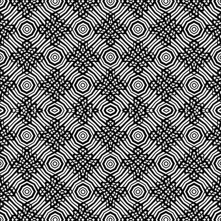 Abstract geometrisch patroon. Zwart-witte vector achtergrond. Stock Illustratie