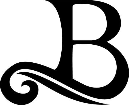 Zwart B-logo, vintage