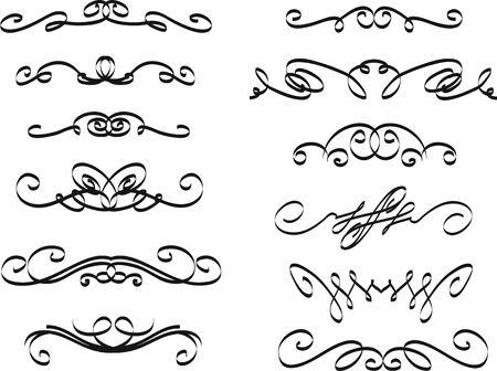 Inzameling van hand getrokken uitstekend kader voor tekstdecoratie in vector. Het ontwerp van de banners van de site Stock Illustratie
