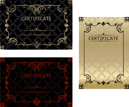 Set certificates template in vector for achievement graduation completion Ilustracja