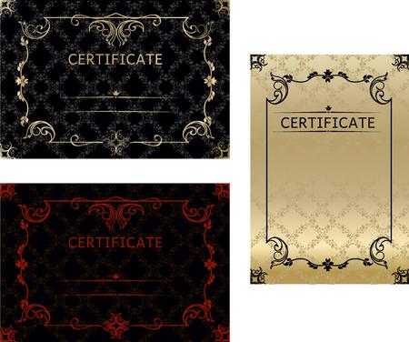 Stel certificaten sjabloon in vector voor voltooiing van de afstudeerafstuderen