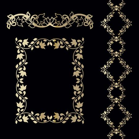 Framework of the vine ornament