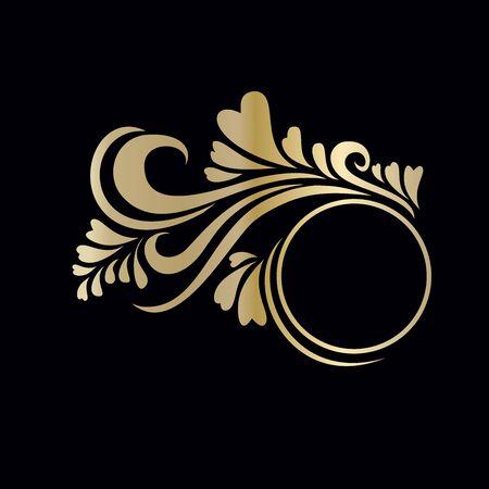 Frame decals goud Stock Illustratie