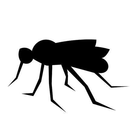 This vector image shows a standing african mosquito in glyph icon design. It is isolated on a white background. Ilustrace