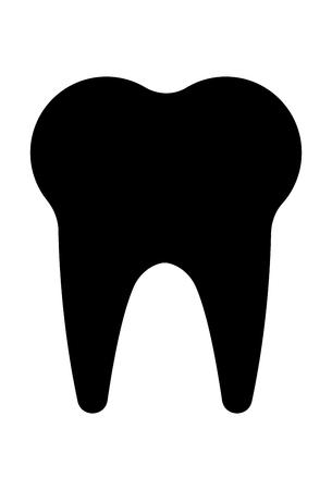 Tooth Icon Vector Stock Illustratie