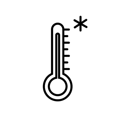 Cold Weather Thermometer Icon Vector