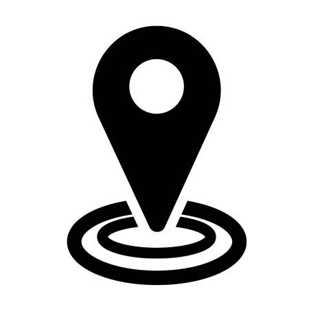 Vector de icono de ubicación Ilustración de vector