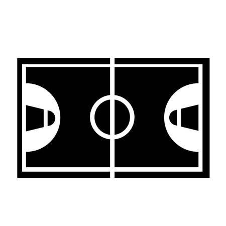 Basketball Court Icon Vector