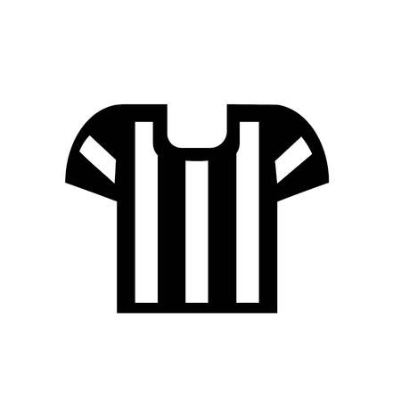 This vector image shows a referee icon in glyph style. It is isolated on a white background.