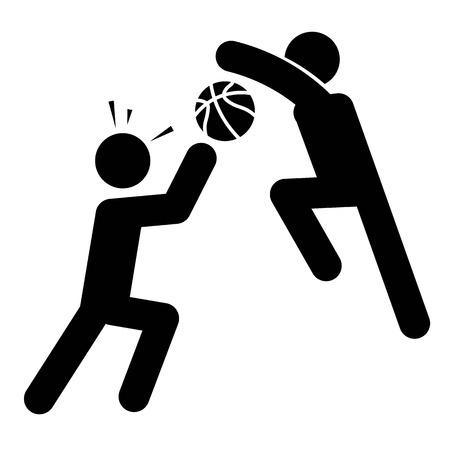 Basketball Block Shot Icon Vector