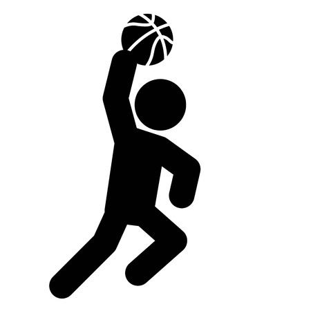 Layup Icon Vector Banque d'images - 124468236