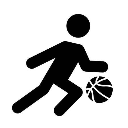 Basketball Dribble Icon Vector  イラスト・ベクター素材
