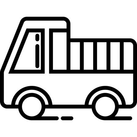 Mini Truck Icon Vector