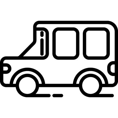 Jeep Icon Vector  イラスト・ベクター素材