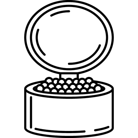 Face Powder Icon Vector Çizim