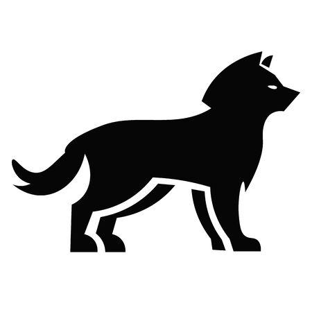 Wolf Icon Vector  イラスト・ベクター素材