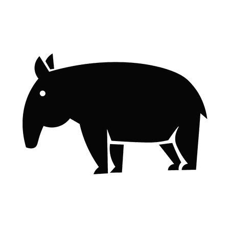 Tapir Icon Vector