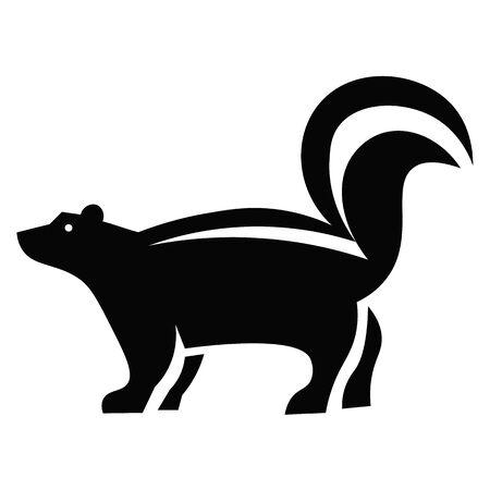 Skunk Icon Vector  イラスト・ベクター素材