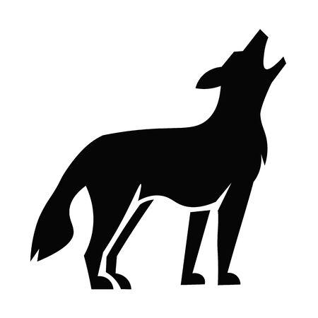 Coyote Icon Vector  イラスト・ベクター素材