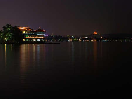 night scenery: Night scenery at the lake
