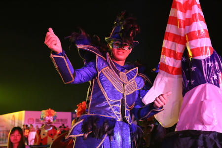 Clown performing in the show
