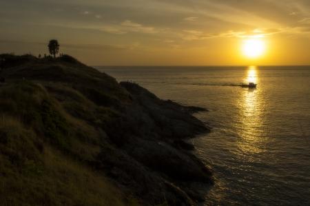 Sunset over Promthep Cape  photo