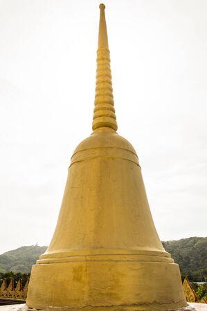 chalong: Gold Pagodas, at Wat Chalong, Phuket, Thailand  Stock Photo