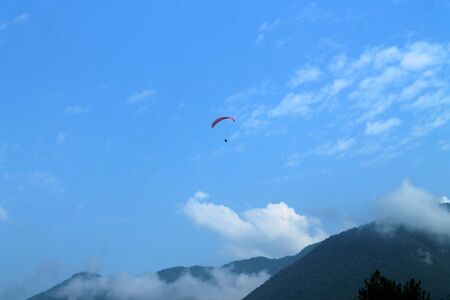 Paragliding over the mountains
