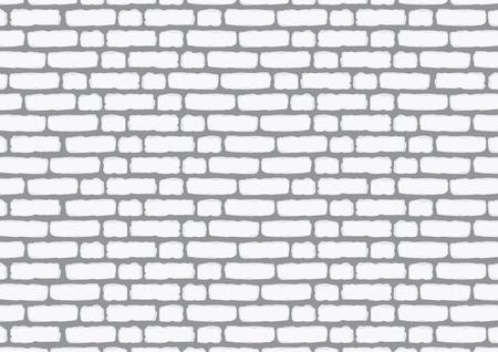 Muur van witte baksteen. Achtergrond voor decoratieillustratie.
