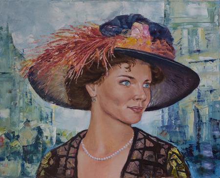Federación Rusa. Uryupinsk. - 17 de febrero de 2018: Elizabeth Boyarskaya. Pintura sobre lienzo