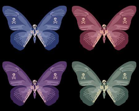 vlinder medley Stockfoto