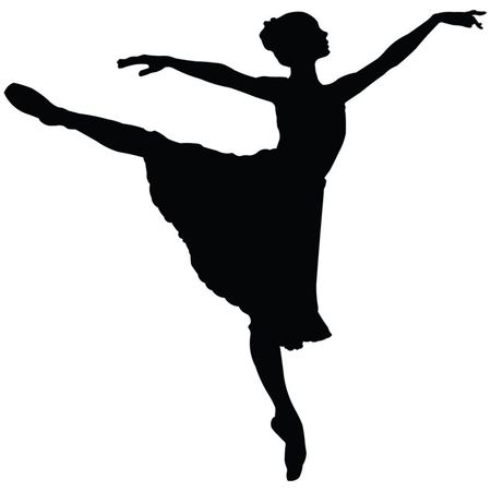 classical dancer: Silhouette of Ballerina