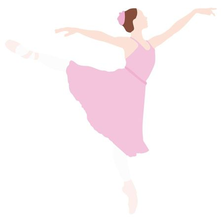컬러 디지털 아트 일러스트레이션에서 발레리나 춤 스톡 콘텐츠