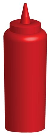 3d render of a ketchup bottole