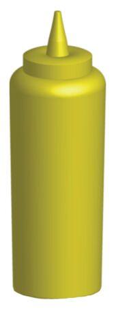 3d render of a mustard bottle