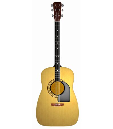 3d render of an acoustic guitar at 800 dpi Stock Photo - 431502