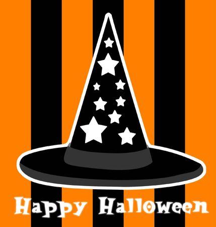halloween witchs hat illustration Zdjęcie Seryjne