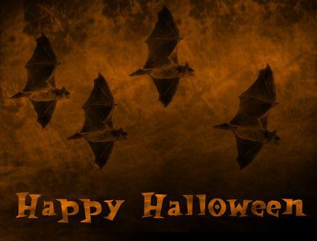 halloween bats flying illustration Zdjęcie Seryjne