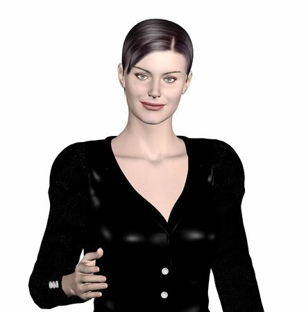 rendered: 3d rendered image of a business woman.
