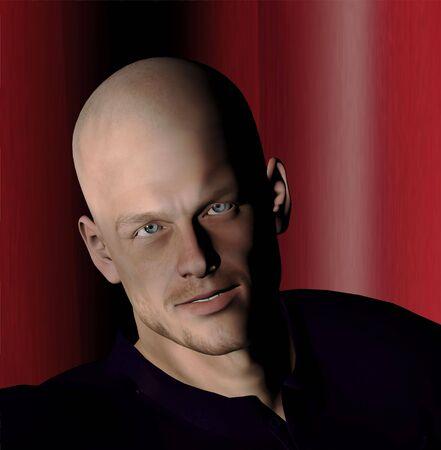 3d rendered portrait of a man Zdjęcie Seryjne