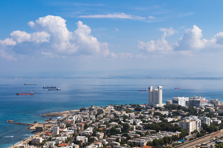 haifa: Seaview from mountain. Cityscape. Haifa