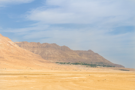 negev: Oasis landscape with the Mountains and the desert in Israel Stock Photo